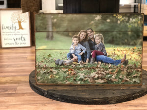 8x10 Wood Photo Pallet- (More Sizes Available) - Paisley Grace Designs