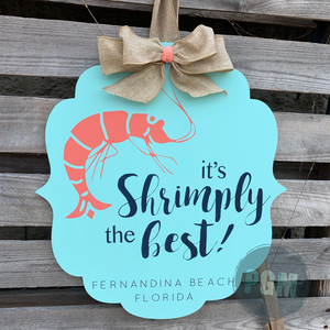IT'S SHRIMPLY THE BEST BRACKET: DOOR HANGER DESIGN - Paisley Grace Designs
