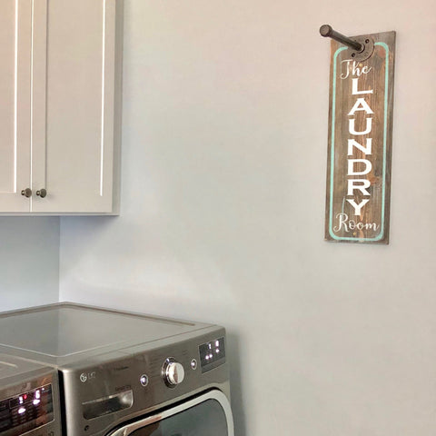 THE LAUNDRY ROOM Vertical: Laundry Clothes Hanger - Paisley Grace Designs