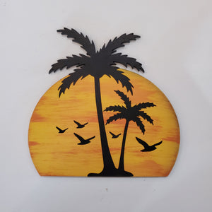 Sunset with Palm Trees: Interchangeable Shape - Paisley Grace Designs