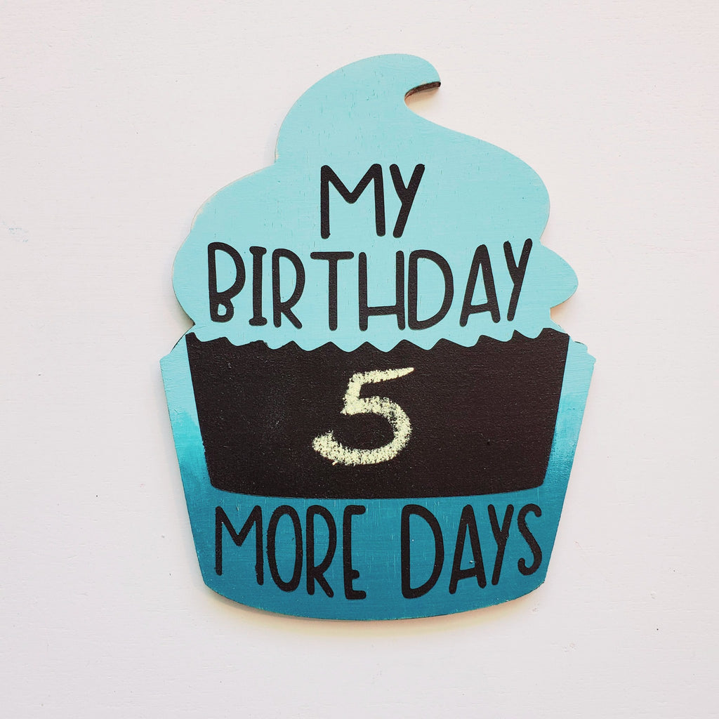 Cupcake Countdown:  Interchangeable Shape