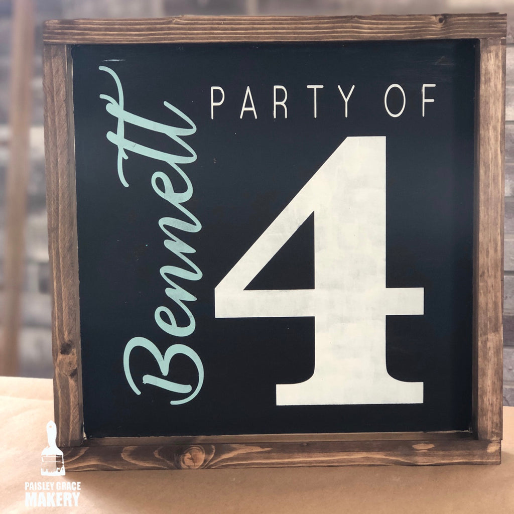 Party Of ___(personalized): SQUARE Design - Paisley Grace Designs