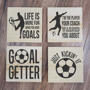 Soccer 4 Pack Take and Make Kit - Paisley Grace Designs