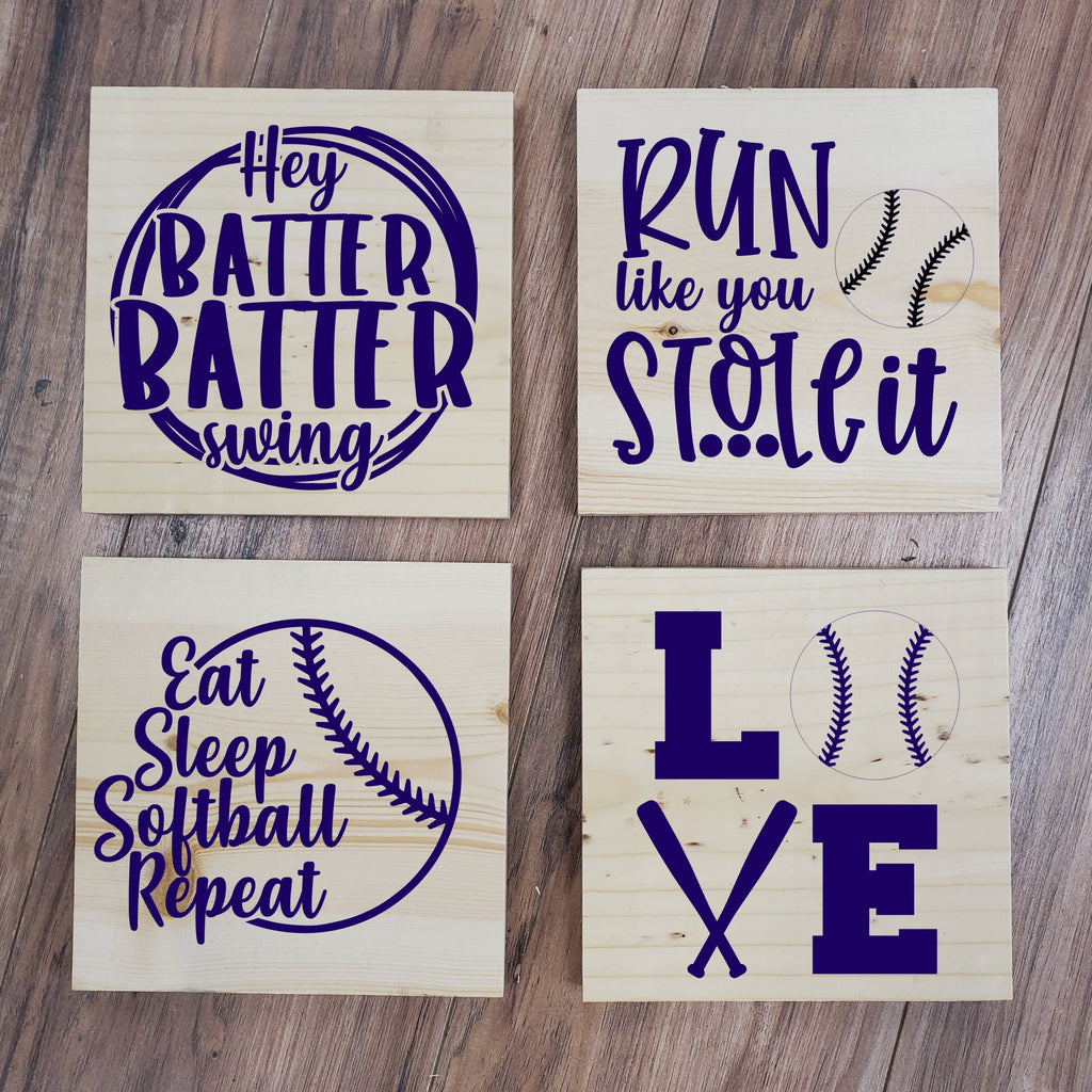 Baseball 4 Pack Take and Make Kit - Paisley Grace Designs