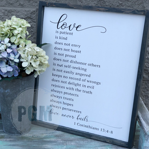 Love Is Patient (1 Cor 13): SIGNATURE CHOICE - Paisley Grace Designs