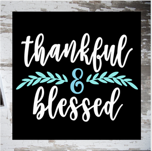 Thankful & Blessed (cursive): MINI DESIGN - Paisley Grace Designs