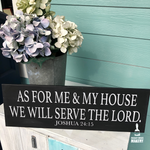 As for Me and My House We Will Serve the Lord: Plank Design - Paisley Grace Designs