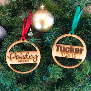 Personalized Name/Date Ornaments