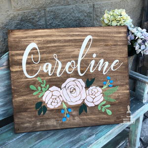 NAME WITH FLORALS: SIGNATURE DESIGN
