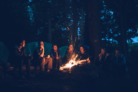 huddling around the campfire