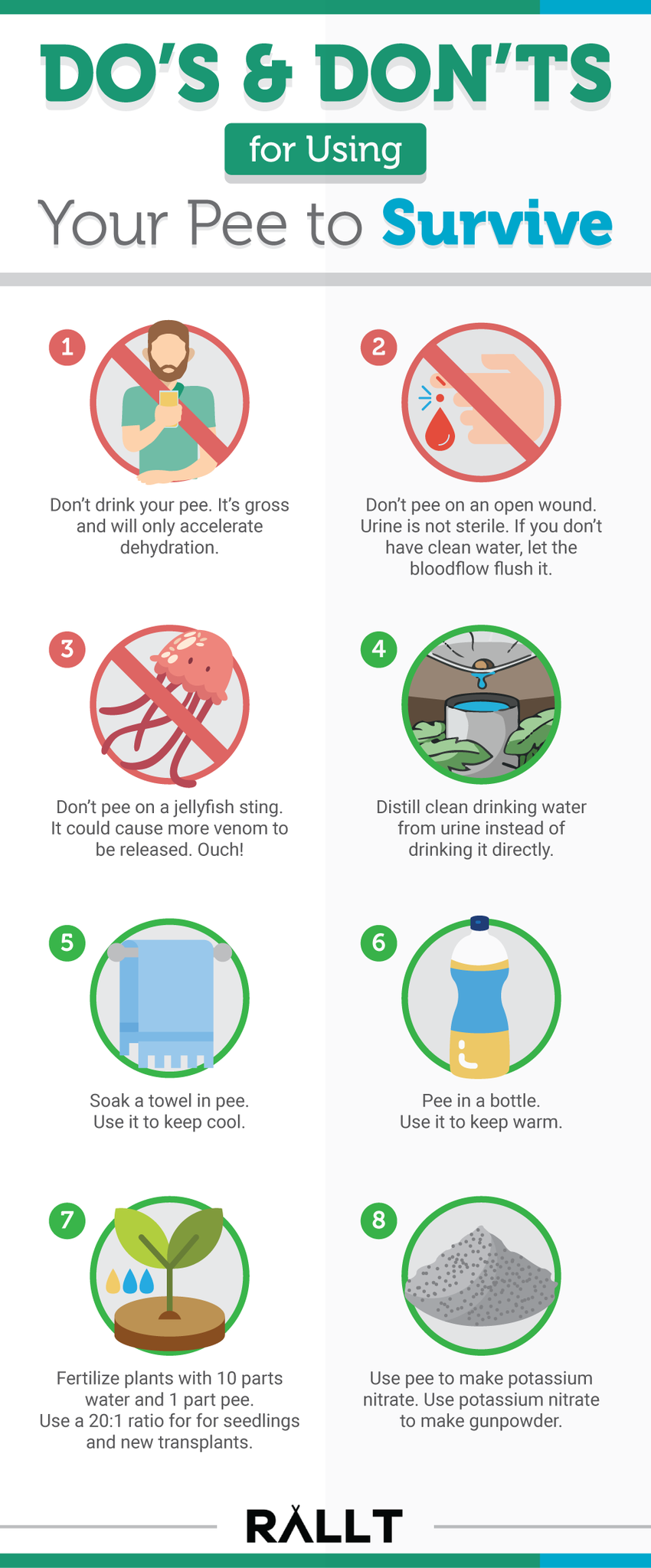 Dos & Don'ts for Using Your Pee to Survive
