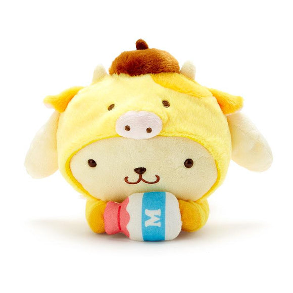 Pompompurin Year of the Ox Costume Cow Plush by Sanrio