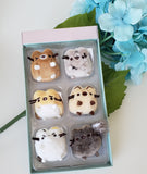 "Pusheen "" I love Kittes"" set collection by Gund"