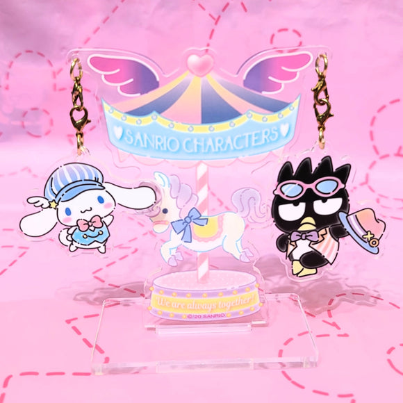 Cinnamoroll & Badtz Maru Always Together Charms Set with holder by Sanrio
