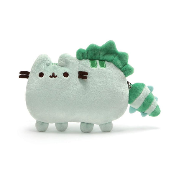 Pusheen/ Pusheenosaurus Dinosaur Cat Plush Coin Purse, Green, 5