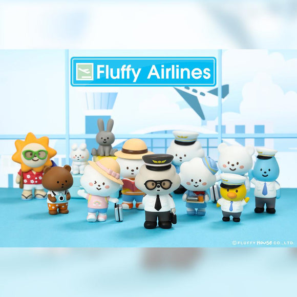 1 Mr. White Cloud Mini Series 5 Fluffy Airlines Edition by Fluffy House