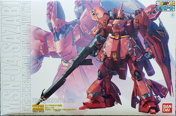 (MG) MSN-04 Sazabi Ver. Ka 1/100 Char Aznable's Mobile Suit for New Type (Clear Color) - Megazone