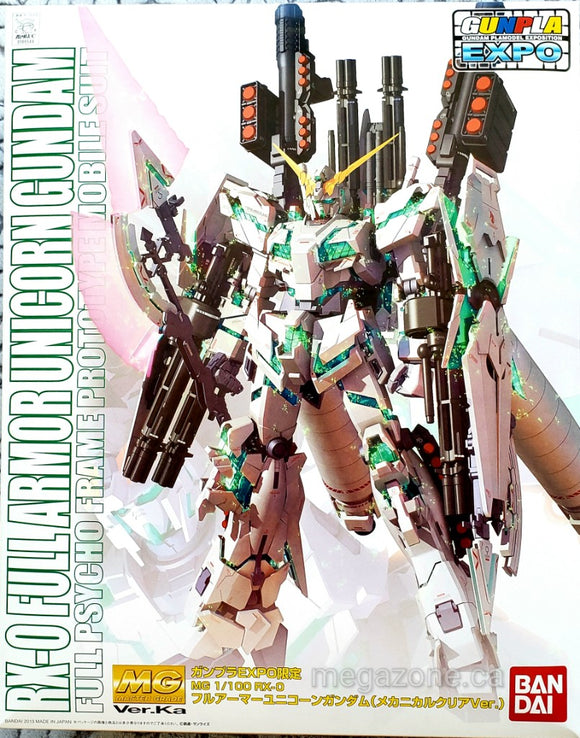 (MG) RX-0 Full Armor Unicorn Gundam 1/100 Full Psycho Frame Prototype Mobile Suit - Megazone