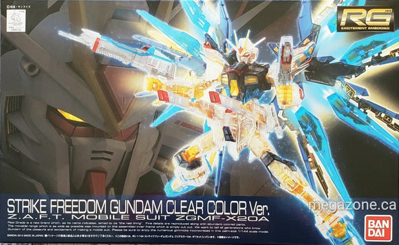 (RG) Strike Freedom Gundam Clear Color Ver. 1/144  A.S.F.T. Mobile Suit ZGMF-X20A - Megazone