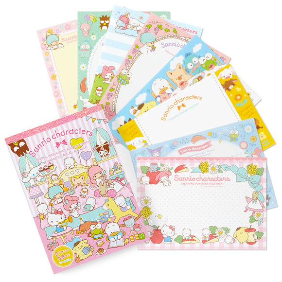 Sanrio Mix Characters Memo Pad 8 Prints Designs by Sanrio