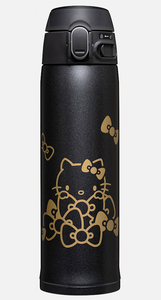 Copy of Hello Kitty Stainless Mug Black with unique-to-Zojirushi gold print by Sanrio - Megazone