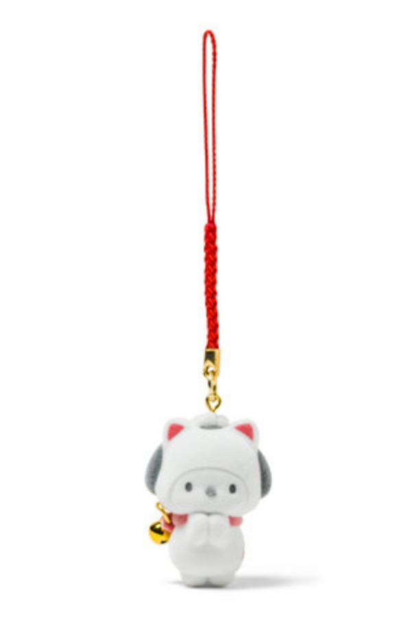 Pochacco Maneki Neko Charm with Flocked Mascot by Sanrio