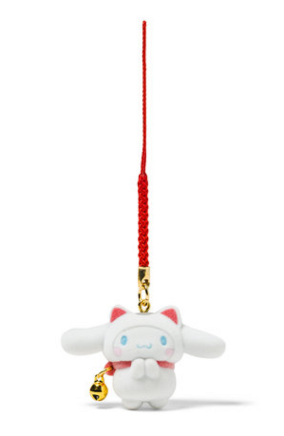 Cinnamoroll Maneki Neko Charm with Flocked Mascot by Sanrio