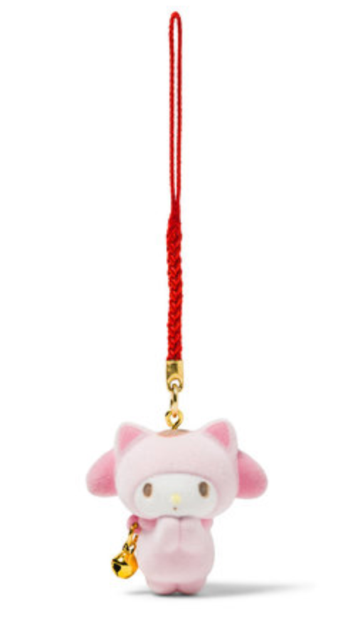 My Melody Maneki Neko Charm with Flocked Mascot by Sanrio
