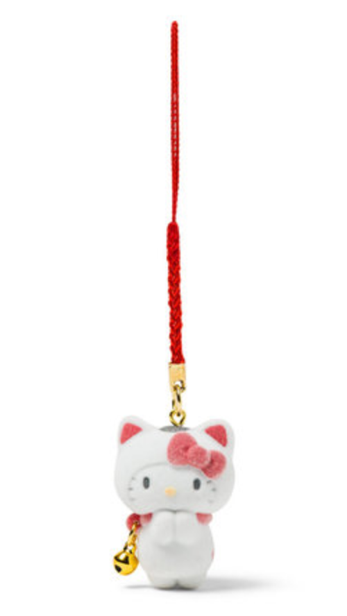 Hello Kitty Maneki Neko Charm with Flocked Mascot by Sanrio