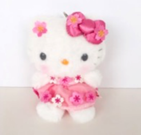 Hello Kitty Cherry Flower Mascot Plush by Sanrio