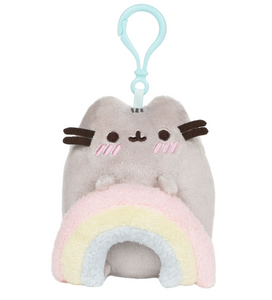 "Pusheen Rainbow Backpack Clip 5"" Plush by Gund"