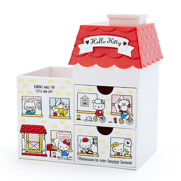 Hello Kitty House Organizer with Drawers by Sanrio