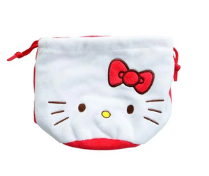 Hello Kitty Drawstring Bag/ White by Sanrio