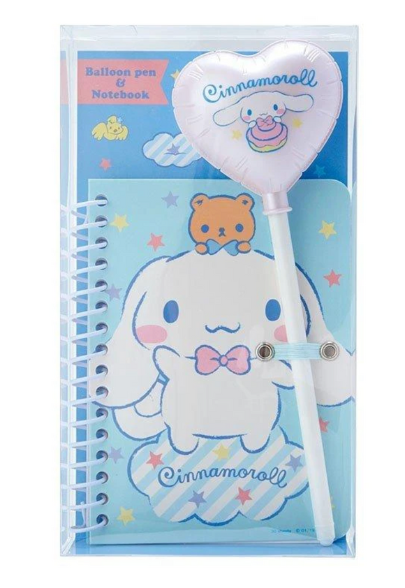 Cinnamoroll Balloon Pen & Notebook set by Sanrio