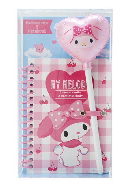 My Melody Balloon Pen & Notebook set by Sanrio