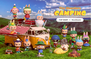 1 The Monster Camping Series Blind Box by POP MART x Kasing Lung+ 1 Kawaii Sticker