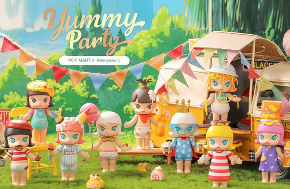 PRE-Order Molly Yummy Party Blind Box by POP MART+ 1 Kawaii Sticker