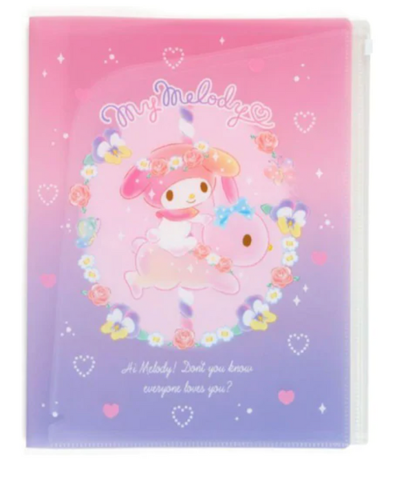 My Melody A4 File With Fastener/ Sweet Fun by Sanrio