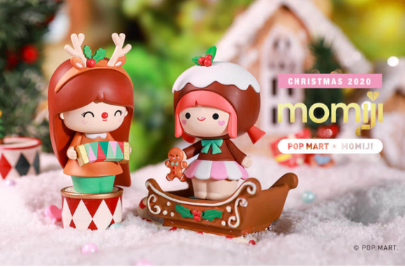 Momiji Christmas Blind Box X Pop Mart + 1 Kawaii Sticker