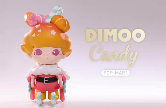 Dimoo Candy Art Toy Figure /18cm/ by Ayan Tang x POP MART + 2 Kawaii Stickers