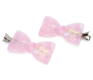 My Melody Flower Bow Hair Clip Set by Sanrio