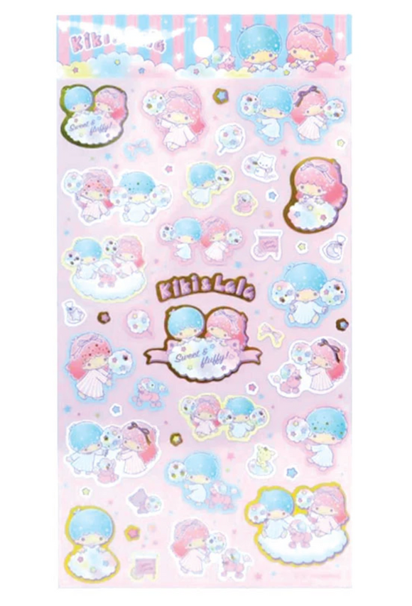 Little Twin Stars Sticker Sheet with Metallic Gold by Sanrio