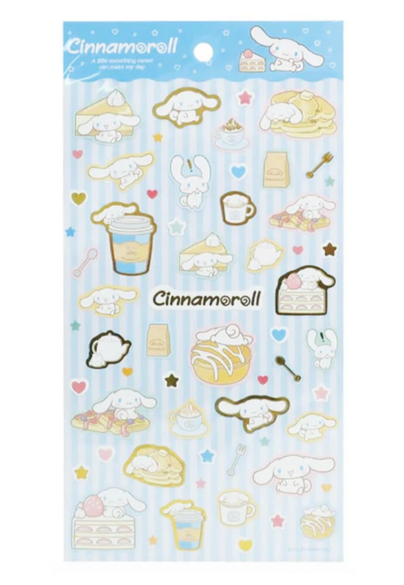Cinnamoroll Sticker Sheet with Metallic Gold by Sanrio