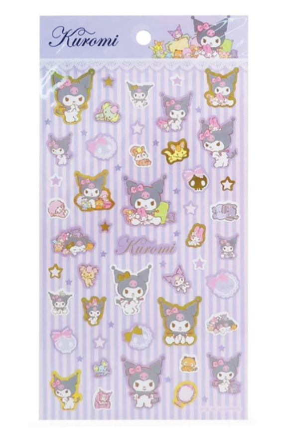 Kuromi Sticker Sheet with Metallic Gold by Sanrio