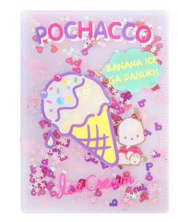 Pochacco File B6 with Confetti by Sanrio