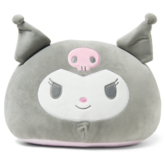 Kuromi Round Face Cushion by Sanrio