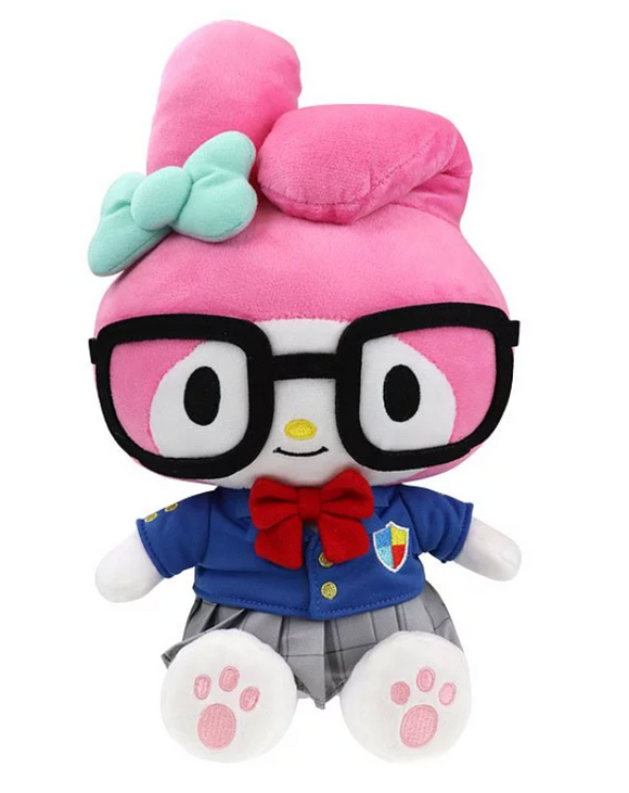 My Melody Plush with School outfit & Glasses by Sanrio