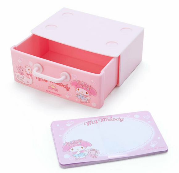 My Melody Memo Pad/ Paper in Drawer by Sanrio Japan
