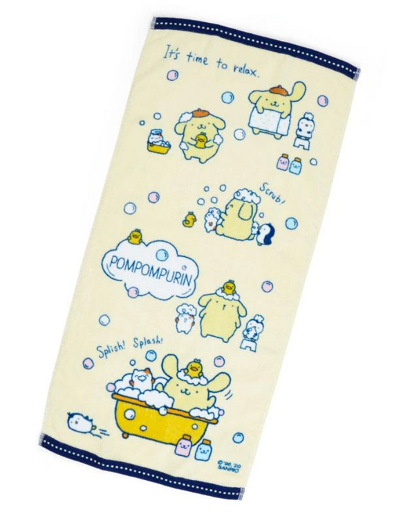 Pompompurin Face Towel Bath Time Series by Sanrio