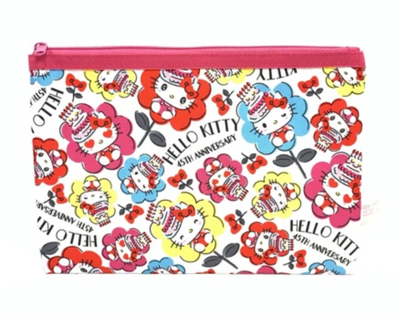 Hello Kitty 45th Anniversary Pouch with Zipper by Sanrio